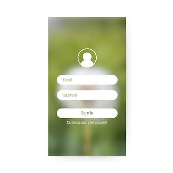 Schermata di accesso dell'app