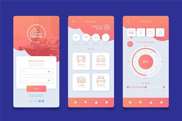 Schermate dell'applicazione smart home