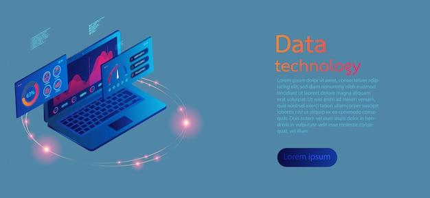 Schermi di computer 3d infographic moderno