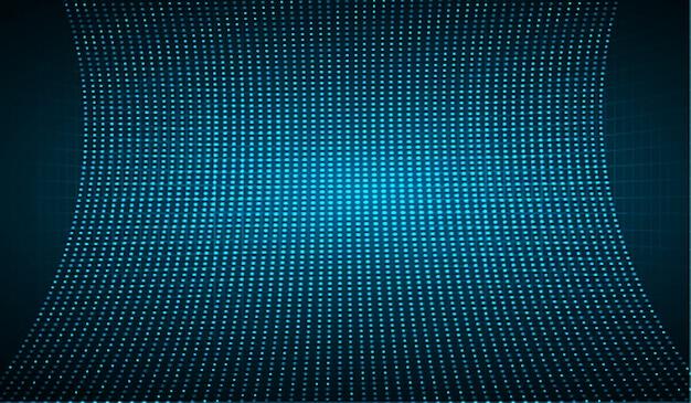 Schermo cinematografico a led blu per la presentazione di film.