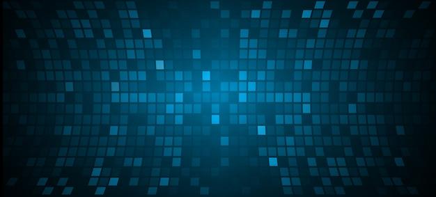 Schermo cinematografico a led blu