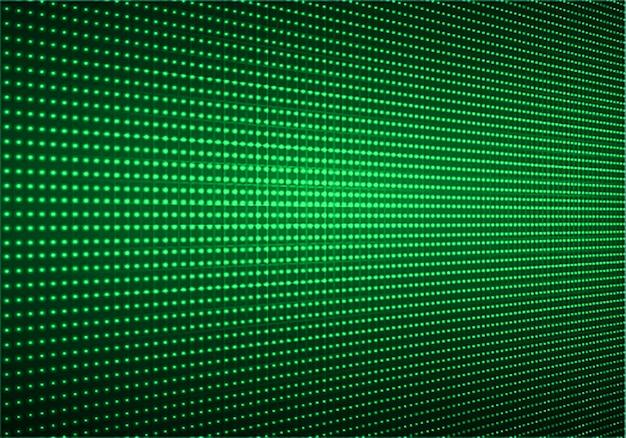 Schermo cinematografico a led verde per presentazione di film. priorità bassa di tecnologia astratta leggera