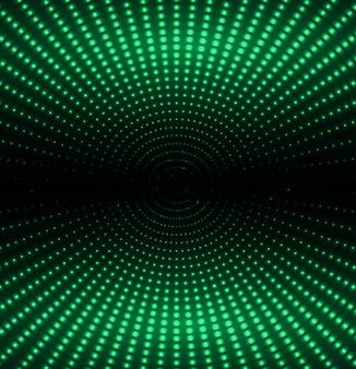 Schermo cinematografico a led verde per presentazioni di film.