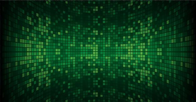 Schermo cinematografico a led verde
