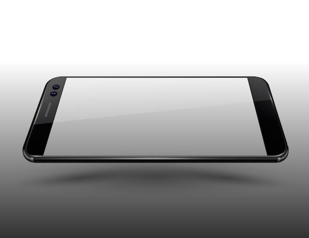 Schermo per mockup di smartphone trasparente schermo facile demo sullo schermo.