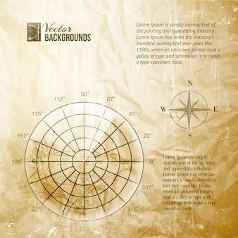 Schermo radar vintage