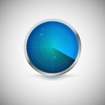 Schermo radiale di colore blu con bersagli.