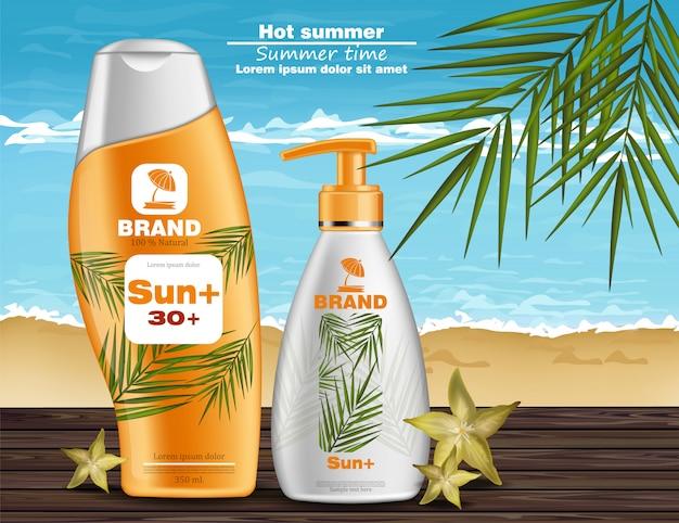 Schermo solare e crema protettiva