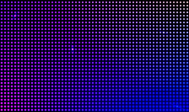 Schermo video a parete led vettoriale con luci a pois