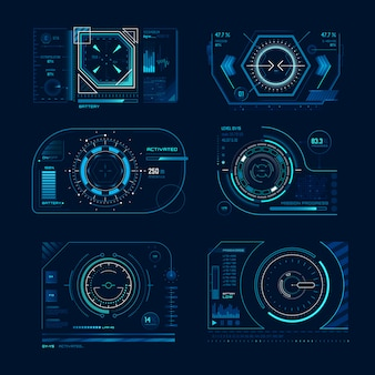 Schermo virtuale futuristico