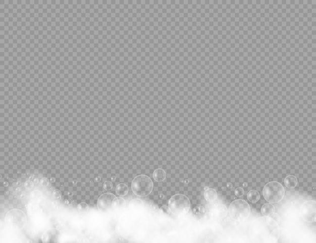 Schiuma da bagno con bolle di shampoo
