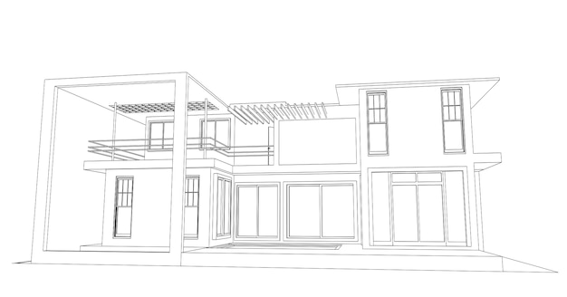 Schizzo astratto architettonico.