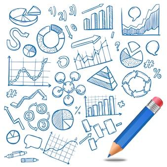 Schizzo di diagrammi e diagrammi