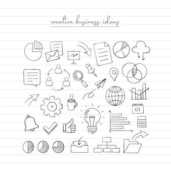 Schizzo di idea imprenditoriale. doodle disegnato a mano