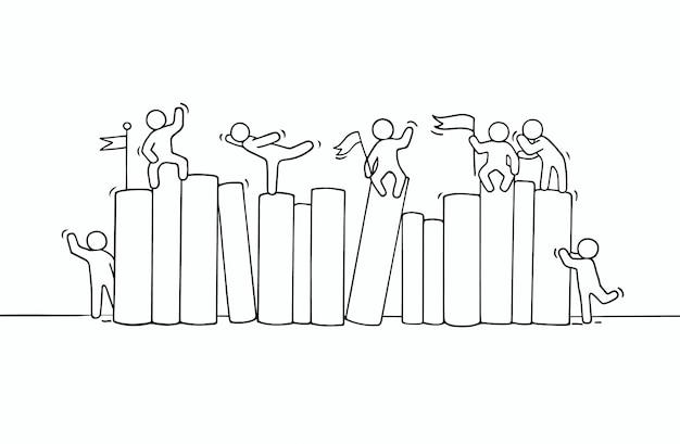 Schizzo di lavorare piccoli libri di persone.