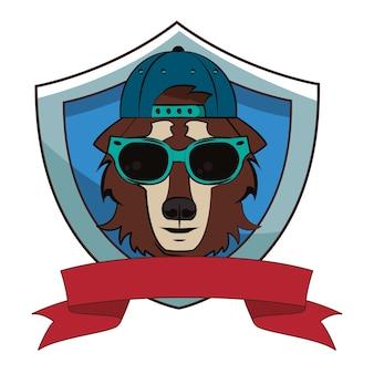 Schizzo di lupo hipster