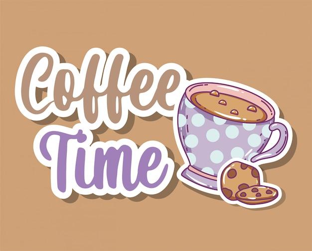 Schizzo di tempo del caffè piatto