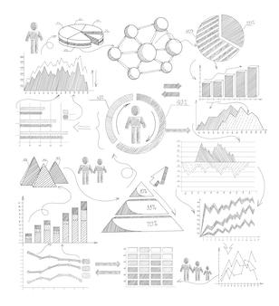 Schizzo elementi infographic