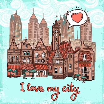 Schizzo sfondo della città