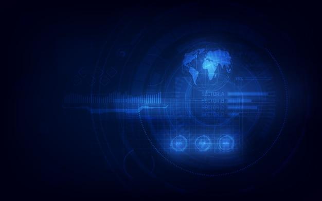 Sci fi tech cyber concetto di design futuristico