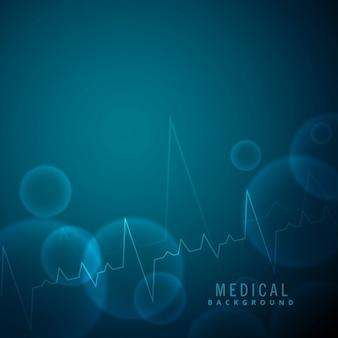 Scienza battito cardiaco e lo sfondo medico