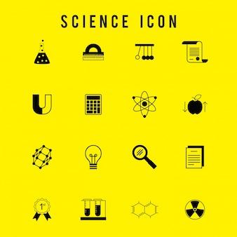 Scienza icona set