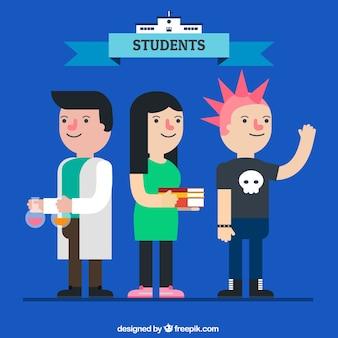 Scienza studenti set
