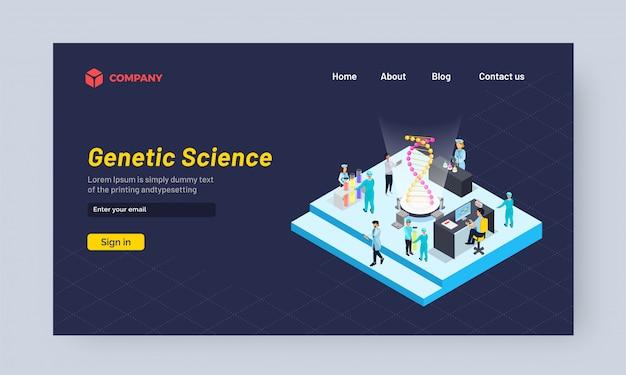 Scienziati che lavorano sul dna