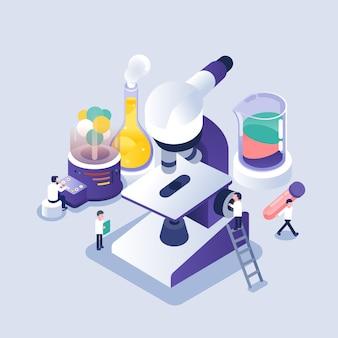 Scienziato che lavora in laboratorio