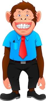 Scimmia cartone animato che indossa un'uniforme
