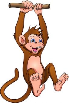 Scimmia simpatico cartone animato