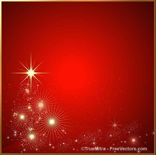 Scintille rosse e stelle sfondo astratto