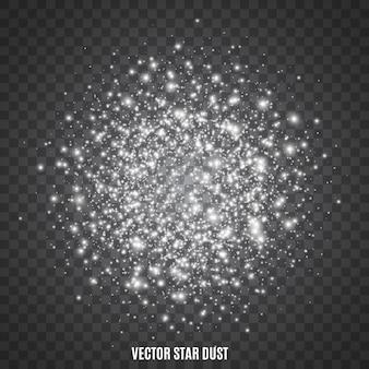 Scintillii su sfondo trasparente. star dust. particelle incandescenti. flare. effetti di luce. .