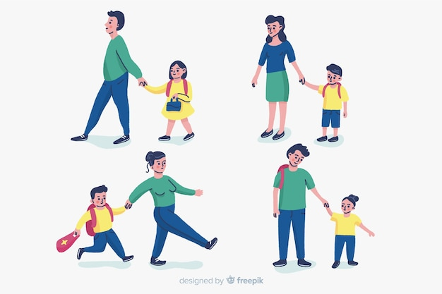Scolari con genitori