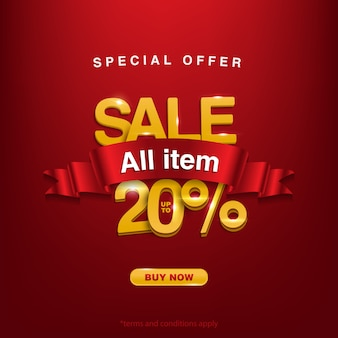 Sconto offerta speciale vendita tutto l'articolo fino al 20%