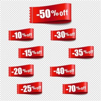 Sconto tag vendita sfondo trasparente