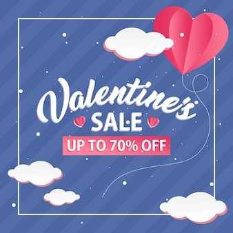 Sconto template illustrazioni san valentino love balloon