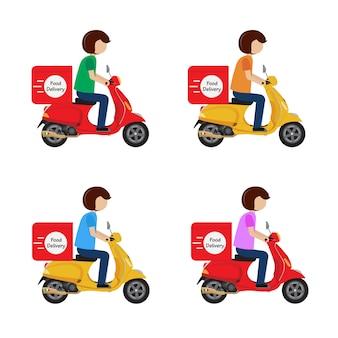 Scooter di giro gangster di consegna