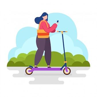 Scooter equitazione donna