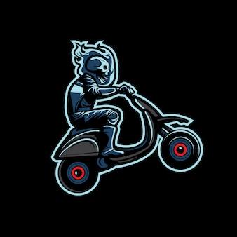 Scooter skull rider