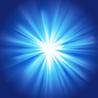 Scoppio blu chiaro incandescente