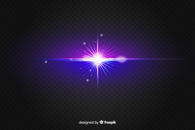 Scoppio realistico di effetti di luce su due colori