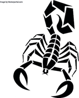 Scorpione in nero