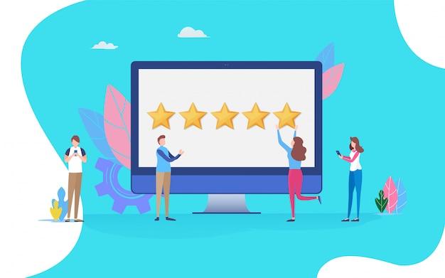 Scorrere la recensione di feedback.