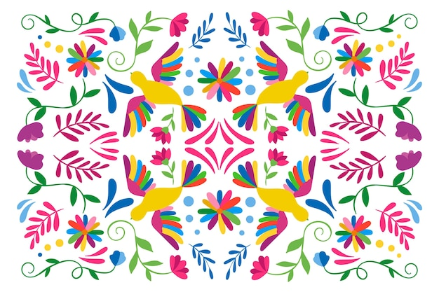 Screensaver messicano colorato con gli uccelli