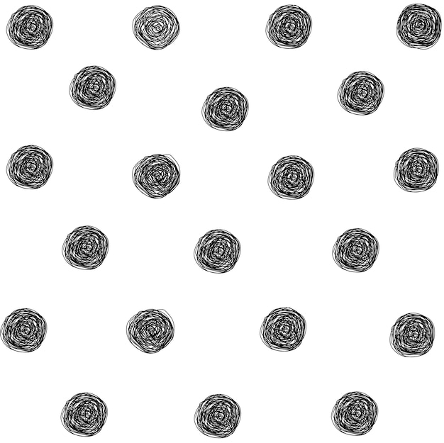 Scribble pattern nero