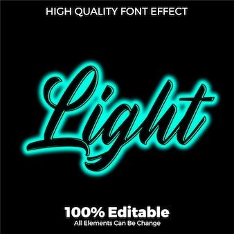 Script con effetto carattere modificabile in stile testo al neon