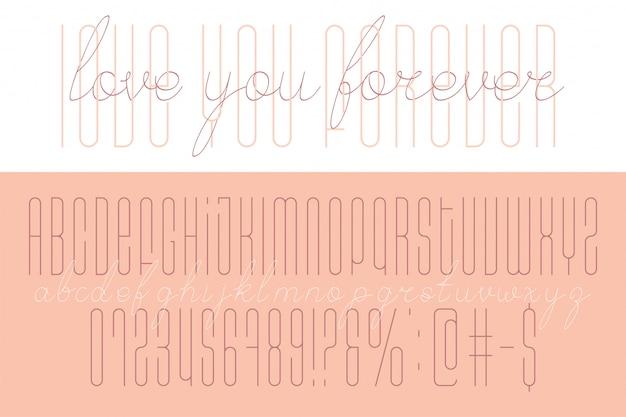 Script duo disegnato a mano e font di visualizzazione