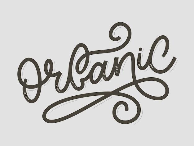 Scritta in pennello con slogan organico