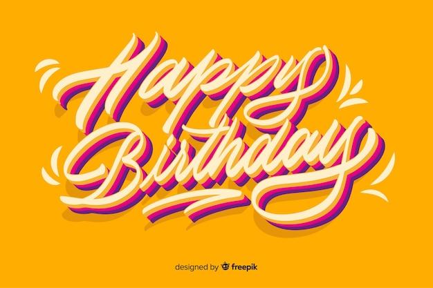Scritte colorate di buon compleanno